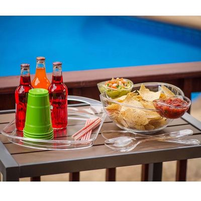 Amazon : 6-Piece Acrylic Serving Set Chip & Dip Salad Fruit Bowl Serving Tray Party Pack Just $16.99 (As of 11/11/2019 12.35 PM CST)