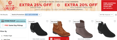 Jcpenney : Buy 1, get 2 FREE boots and shoes for the entire family!
