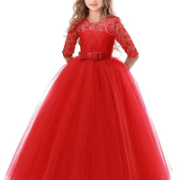 Amazon : Girls Flower Party Dress Just $14.45 W/Code (Reg : $99.99) (As of 11/12/2019 11.21 AM CST)