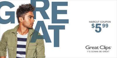 Great Clips $5.99 coupon at Dallas-Ft. worth area salons