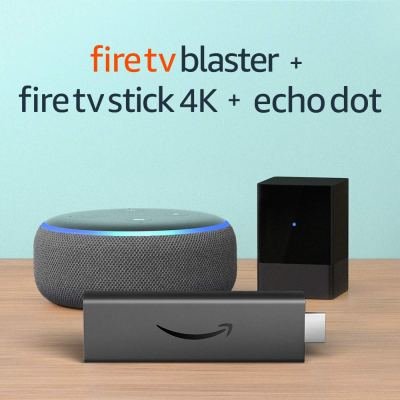 Amazon : **BLACK FRIDAY COUNTDOWN** Introducing Fire TV Blaster bundle with Fire TV Stick 4K and Echo Dot (3rd Gen) Just $79.99 (Reg : $134.97) (As of 11/22/2019 9.50 AM CST)