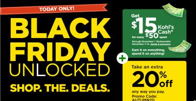 Kohl's : Black Friday UNLOCKED!