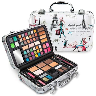 Vokai Makeup Kit Gift Set - Paris Travel Case 41 Eye Shadows 4 Blushes 5 Bronzers 7 Body Glitters 1 Lip Liner Pencil 1 Eye Liner Pencil 2 Lip Gloss Wands 1 Lipstick 5 Concealers 1 Brow Wax 1 Mirror for $19.99 (reg: $39.99)