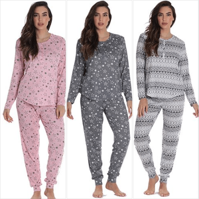 Amazon : Women's Jogger Pajama Pants Set Just $12.49 W/Code (Reg : $24.99) (As of 11/18/2019 2.49 PM CST)