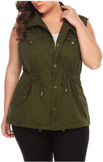 Amazon : Women's Plus Size Vest Just $15.99 W/Code (Reg : $53.30) (As of 11/07/2019 11.29 AM CST)