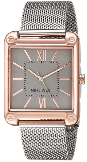 Amazon : Women's Rose Gold-Tone and Silver-Tone Mesh Bracelet Watch Just $19.99 (Reg : $36.75) (As of 11/18/2019 6.20 PM CST)