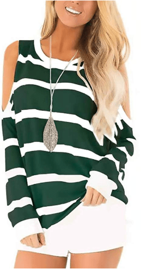 Amazon : Women's Short Sleeve Cut Out Cold Shoulder Tops Just $13.29 W/Code (Reg : $18.99) (As of 11/18/2019 12.07 PM CST)