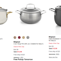 Macy's : Belgique Just $12.99 (Reg : $44.99)