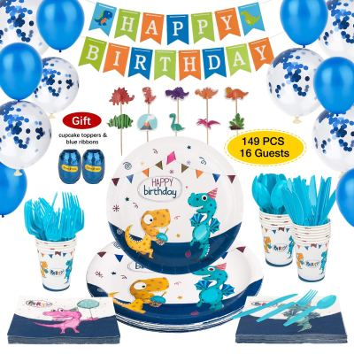 Dinosaur Party Supplies Serve 16 for $15.99 Shipped! (Reg. Price $39.99)