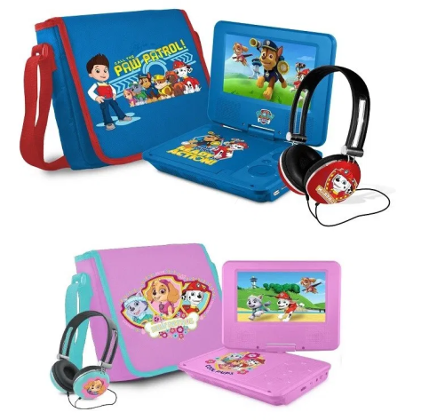 PAW Patrol 7″ Portable DVD Player with Carrying Bag and Headphones for $49.98 (reg: $59.99)