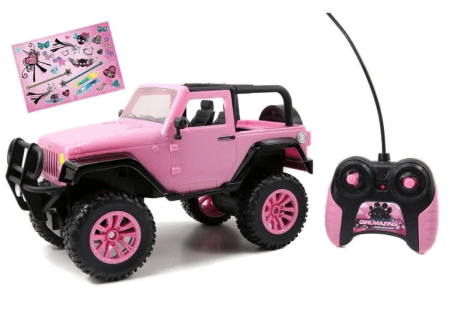 Jada Toys GirlMazing 1/16 Scale Remote Control Pink Jeep for $14.49 (reg: $30.37)