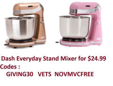 Dash Everyday Stand Mixer  for $24.99 with stacking codes
