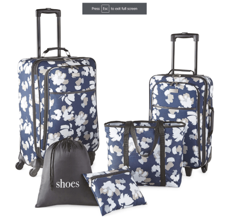 Protocol Garrison 5-pc. Luggage Set for $49.99 (reg: $180) - JCPenny BlackFriday Deal