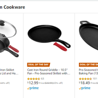 Amazon : SAVE UP TO 44% ON CUISINEL CAST IRON COOKWARE Just Starting as low as $12.99 (As of 12/04/2019 9.45 AM CST)