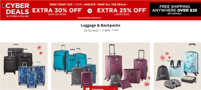 Jcpenney : Luggage & Backpacks Sale!