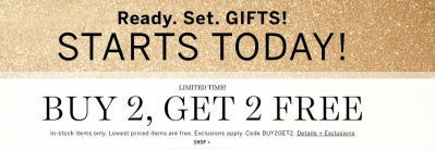 Victoria's Secret : Buy 2, Get 2 Free on Almost EVERYTHING!