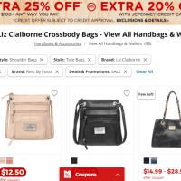 JCPenney : Designer Bags Starting at Just $12 (Fossil, Claiborne, Nicole Miller)