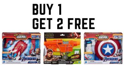 Target : Buy 1 Get 2 Free Marvel Nerf!