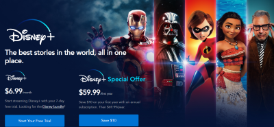 Amazon : Disney+ One Day Sale | Get A Year Just $59.99 $3.89 W/Code (Reg : $12.99) (As of 12/02/2019 4.20 PM CST)