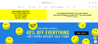 Forever 21 : 40% Off + Get Extra 50% Off Sale Items!