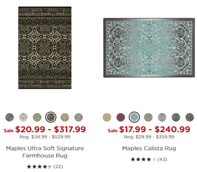 Kohl's : Stacking Codes On Rug's!