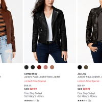 Macy's : Limited-Time Special Coats Sale!!