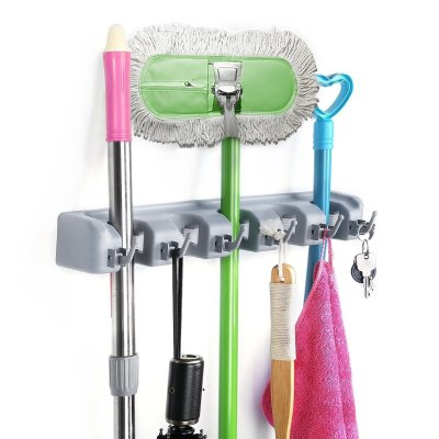 Amazon : Magic Wall Mount Mop Holder with 5 Positons and 6 Hooks Just $9.99 W/Code (Reg : $18.99) (As of 12/09/2019 12.10 PM CST)