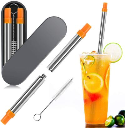 Amazon : Reusable Collapsible Straws Just $3.42 W/Code (Reg : $8.99) (As of 12/11/2019 9.06 PM CST)