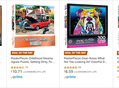 Amazon : Save up to 35% on Puzzles (As of 12/22/2019 5.44 PM CST)