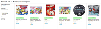 Amazon : Save up to 50% on Monopoly and Hasbro games Just Starting From $3.99 (As of 12/02/2019 11.43 AM CST)