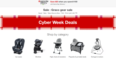 Target : 40% Off Graco Gear + Free Shipping.