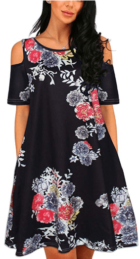Amazon : Women Casual Print Cold Shoulder Short Sleeve T-Shirt Just $6.40 W/Code (Reg : $31.99) (As of 12/11/2019 7.15 PM CST)