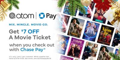 Atom Tickets: Extra $7 Off ANY Movie Ticket