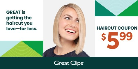 Great Clips Hairtcut Coupon $5.99 (Dallas-Ft Area)