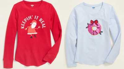 Old Navy Holiday Tees for the Family ONLY $3 – $4 (Regularly $15) – Today Only!