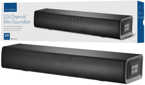 Insignia 2.0-Channel Soundbar ONLY $29.99 + FREE Shipping (Reg $80) – Today Only!