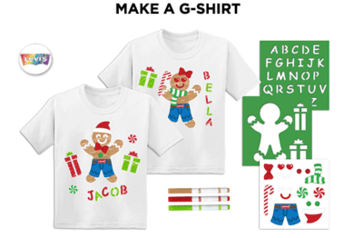 Create Your Own FREE G-Shirt at JCPenney Kids Zone Event at Dec 14th + Coupon for purchase!