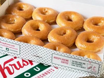 Krispy Kreme Original Glazed Dozen ONLY $2 with Any Dozen Purchase (Dec 21st – 24th)