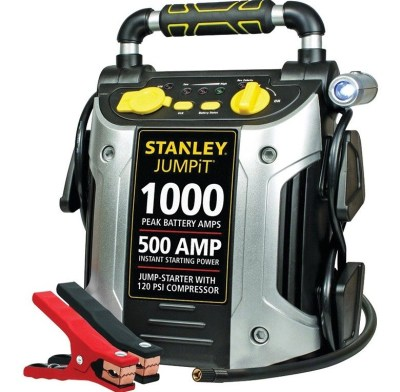 WALMART: STANLEY 1000/500 Amp Jump Starter w/120 PSI Compressor, JUST $47.09 (Reg $89.85)