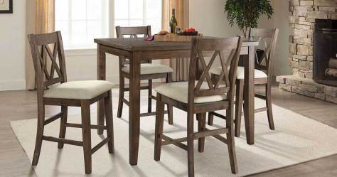 Hop on over to Sam's Club where they're offering this Oliver 5-Piece Counter-Height Dining Set for just $199 shipped (regularly $499)!  Note that non-members can score this deal when they pay the 10% non-member fee, making your cost $218.90 shipped.