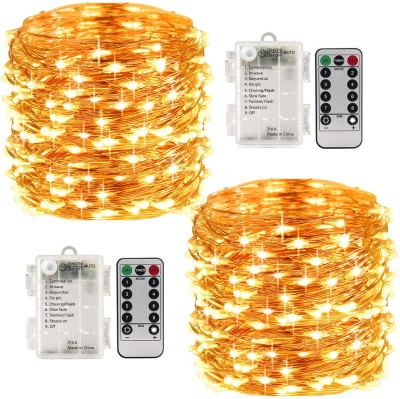 Amazon : 8 Modes 2 Pack 33 Feet 100 Led Fairy String Lights with Battery Remote Timer Control Just $7.99 W/Code (Reg : $15.98) (As of 1/24/2020 10.10 PM CST)