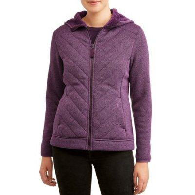 Walmart: Time And Tru Women's Plus Sweater Fleece Jacket With Sherpa For $13 (Was $22) + Store Pickup.