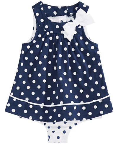 MACY'S: First Impressions Baby Girls Dot-Print Skirted Sunsuit, JUST $8.10 (Reg $18.00) with code YAY