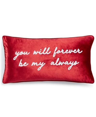 """MACY'S: Lacourte Be My Always 14"""" x 26"""" Decorative Pillow, JUST $19.99 (Reg $50.00) with code YAY"""