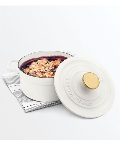 MACY'S: Martha Stewart Enameled Cast Iron 2-Qt. Round Covered Dutch Oven, JUST $39.99 (Reg $99.99) with code YAY