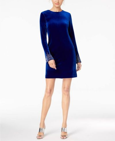 MACY'S: Calvin Klein Embellished Bell-Sleeve Sheath Dress, JUST $59.99 (Reg $134.00) with code YAY