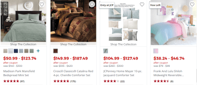 JCPenney : Up to 82% Off Comforter Sets (Starting at ONLY $18.69) – Today Only!