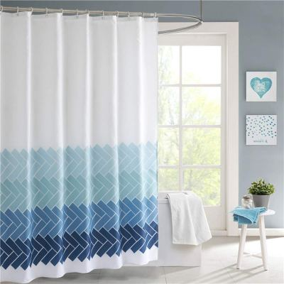 Amazon : Blue and White Fabric Shower Curtain Set Just $7.99 W/Code (Reg : $15.99) (As of 1/22/2020 11.26 AM CST)