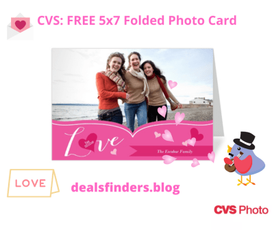 CVS: FREE 5x7 Folded Photo Card + FREE In-Store Pickup