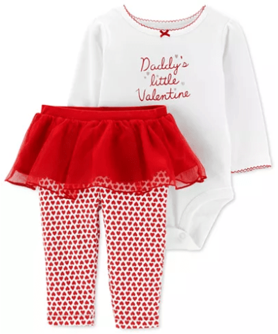 Macy's : Carter's Baby Girls 2-Pc. Valentine Bodysuit & Tutu Pants Set Just 10.56 W/Code (Reg $22)